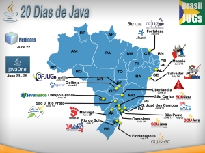 Mapa do JUG Tour