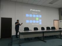 Itamar falando sobre DevOps com Containers